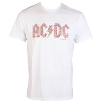 Metal majica moški AC-DC - CLASSIC LOGO WHITE RED - AMPLIFIED, AMPLIFIED, AC-DC