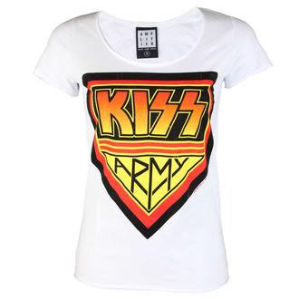 majica kovinski ženske Kiss - DISTRESSED ARMY WHITE - AMPLIFIED, AMPLIFIED, Kiss