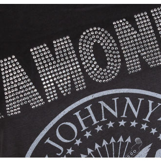 majica kovinski ženske Ramones - LOGO SILVER DIAMANTE - AMPLIFIED, AMPLIFIED, Ramones
