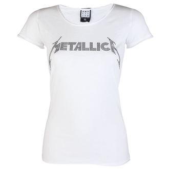 majica kovinski ženske Metallica - CLASSIC LOGO WHITE - AMPLIFIED, AMPLIFIED, Metallica