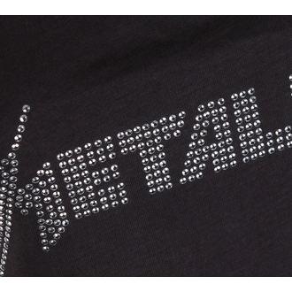 na vrh ženske METALLICA - CLASSIC LOGO CHARCOAL - AMPLIFIED, AMPLIFIED, Metallica