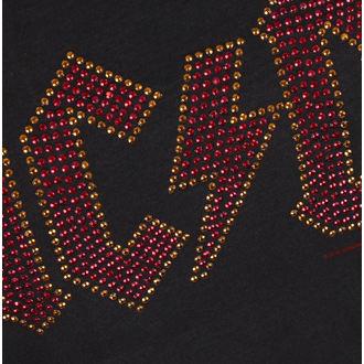 majica kovinski ženske AC-DC - LOGO CHARCOAL RED - AMPLIFIED, AMPLIFIED, AC-DC