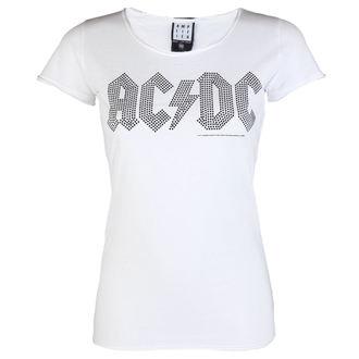 majica kovinski ženske AC-DC - LOGO WHITE BLACK - AMPLIFIED, AMPLIFIED, AC-DC