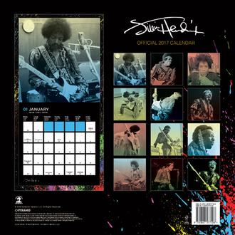 koledar Jimi Hendrix 2017, PYRAMID POSTERS, Jimi Hendrix