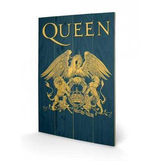 lesena sliko Queen - Crest, PYRAMID POSTERS, Queen