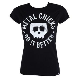 majica hardcore ženske - Skull - METAL CHICKS DO IT BETTER, METAL CHICKS DO IT BETTER