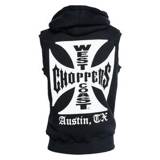 telovnik - IRON CROSS SLEEVELESS HOODY - West Coast Choppers, West Coast Choppers