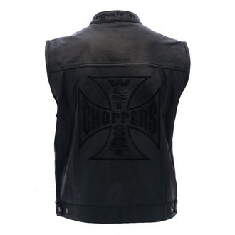 telovnik - OG CROSS LEATHER RIDING - West Coast Choppers, West Coast Choppers