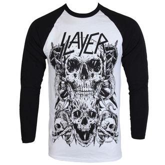 T-shirt moški z dolgo rokavi Slayer - Skulls Raglan - ROCK OFF, ROCK OFF, Slayer