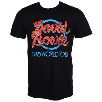 majica kovinski moški David Bowie - 1978 World Tour - ROCK OFF, ROCK OFF, David Bowie