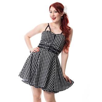 Obleka ženske RockaBella - KEIRA - BLACK gingham, ROCKABELLA