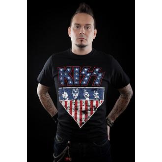 majica kovinski moški Kiss - Stars & Stripes - HYBRIS, HYBRIS, Kiss