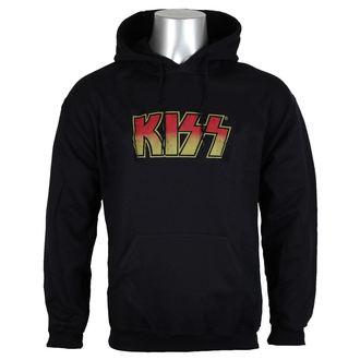 jopa s kapuco moški Kiss - Distressed Logotype Big & Tall - HYBRIS, HYBRIS, Kiss