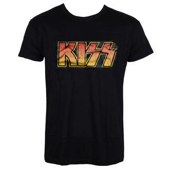 majica kovinski moški Kiss - Distressed Logotype - HYBRIS, HYBRIS, Kiss