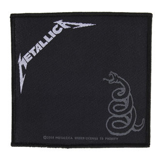 Našitek METALLICA - BLACK ALBUM - RAZAMATAZ, RAZAMATAZ, Metallica