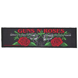 Našitek Guns N' Roses - LOGO / ROSES - RAZAMATAZ, RAZAMATAZ, Guns N' Roses