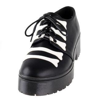 klin čevlji ženske - Wishbone Cleated Sole Flat - IRON FIST, IRON FIST