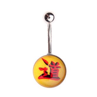 piercing dragulj - Rumena / rdeča, NNM