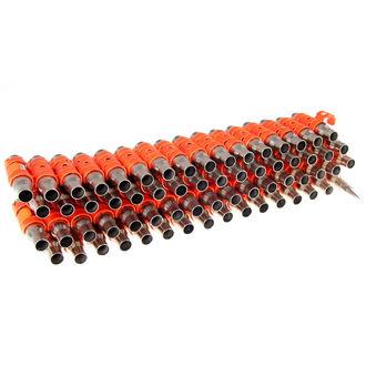 pas Srebrna & Fluorescentno - Orange Metal Bullet