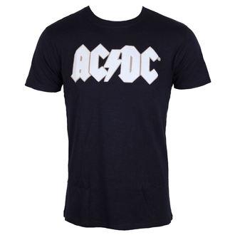 majica kovinski moški AC-DC - Logo & Angus Applique Slub - ROCK OFF, ROCK OFF, AC-DC