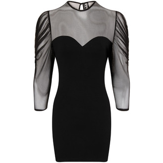obleko ženske Necessary Evil - Ruched Mesh Lyssa, NECESSARY EVIL