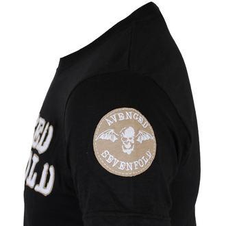 majica kovinski moški Avenged Sevenfold - Logo & Deathbat Applique - ROCK OFF, ROCK OFF, Avenged Sevenfold