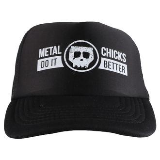 kapa METAL CHICKS DO IT BETTER - Skull - Logo - Črno, METAL CHICKS DO IT BETTER