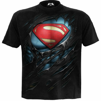 Moška majica SPIRAL - Superman - RIPPED - Črna, SPIRAL, Superman