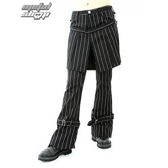 hlače ženske Aderlass - Krilo Hlače Pin Stripe (Črnobela), ADERLASS