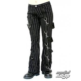 hlače ženske Aderlass - Cross Hlače Pin Stripe (Črnobela), ADERLASS