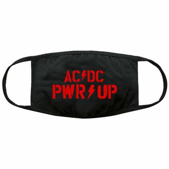 Maska AC/DC - PWR-UP Logo - Črna - ROCK OFF, ROCK OFF, AC-DC