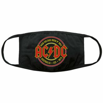 Maska AC/DC - Est. 1973 - Črna - ROCK OFF, ROCK OFF, AC-DC
