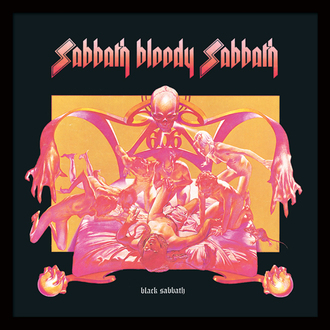 Uokvirjen plakat Black Sabbath - (&&string0&&) - PYRAMID POSTERS, PYRAMID POSTERS, Black Sabbath