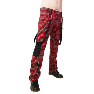 hlače Black Pistol - Punk Pants Tartan Red-Green, BLACK PISTOL