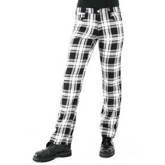 hlače moški Black Pistol - Tartan Pants Black-white, BLACK PISTOL