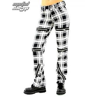 hlače ženske Black Pistol - Uniči Hlače Tartan (Črno / Bela) - B-1-20-060-01