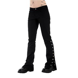 hlače ženske Black Pistol - Gumb Hipster Denim (Črno), BLACK PISTOL