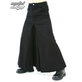 kilt Black Pistol - Men Skirt Denim Black, BLACK PISTOL