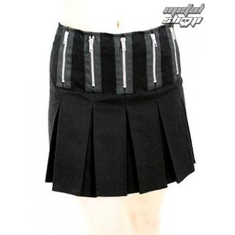 krilo ženske Black Pistol - Zadrga Mini Denim (Črno), BLACK PISTOL