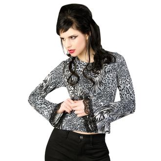 majica gotsko in punk ženske - Ladys Longsleeve Jersey Leppard Grey - ADERLASS, ADERLASS