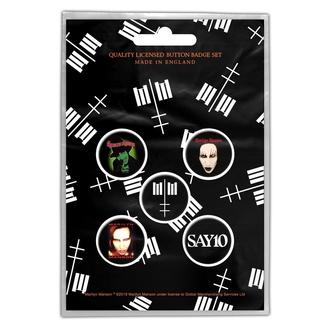 Značke Marilyn Manson - Cross Logo - RAZAMATAZ, RAZAMATAZ, Marilyn Manson
