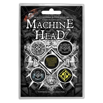 Značke Machine Head - Crest - RAZAMATAZ, RAZAMATAZ, Machine Head