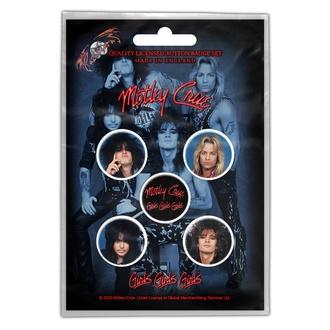 Značke Mötley Crüe - Girls, Girls, Girls - RAZAMATAZ, RAZAMATAZ, Mötley Crüe