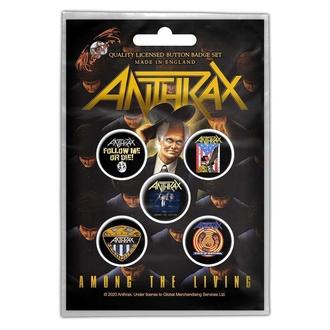 Značke Anthrax - Among The Living - RAZAMATAZ, RAZAMATAZ, Anthrax