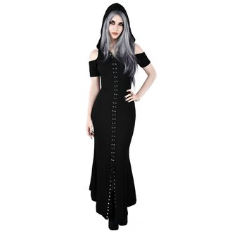 Ženska obleka KILLSTAR - Blazing Maxi - BLACK, KILLSTAR
