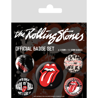 Broške Rolling Stones - (&&string0&&) - PYRAMID POSTERS, PYRAMID POSTERS, Rolling Stones