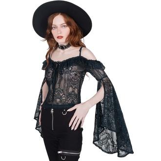 Ženska Top majica z dolgimi rokavi KILLSTAR - Breathless Lace Bardot - EMERALD, KILLSTAR