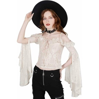 Ženska Top majica z dolgimi rokavi KILLSTAR - Breathless Lace Bardot - IVORY, KILLSTAR