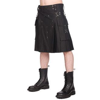 Moški kilt BLACK PISTOL - Denim - Črno, BLACK PISTOL