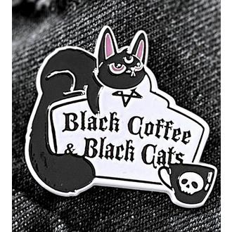 Priponka KILLSTAR - Coffee & Cats - Srebrno, KILLSTAR